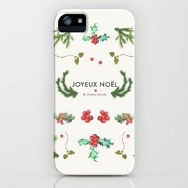 Joyeux Noël iPhone Case