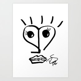 Faire Visage No 40 Art Print