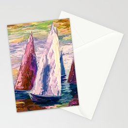 Wind on Sails by Lena Owens/OLena Art Stationery Cards