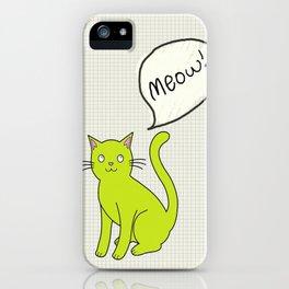Cat Language iPhone Case