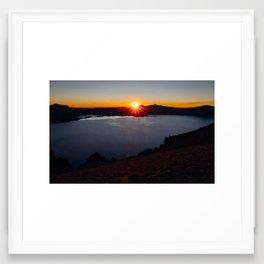 Eye of the Crater Framed Art Print