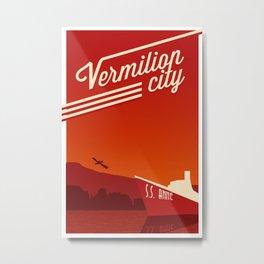 Vermilion City Metal Print