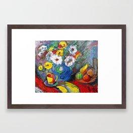 Flowers and Freedom Framed Art Print