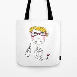 Wine Vampire Girl Tote Bag
