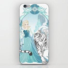 Frozen White Tiger iPhone Skin
