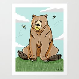 Sticky Bear Art Print
