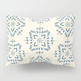 Portuguese tile style ornamental pattern - blue on cream Pillow Sham