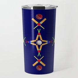 Sport Of Cricket Design version 3 Travel Mug