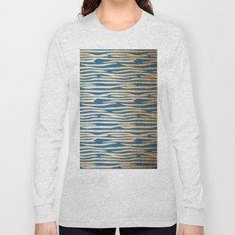 Zebra - Orange Sherbet Shimmer on Saltwater Taffy Teal Long Sleeve T-shirt