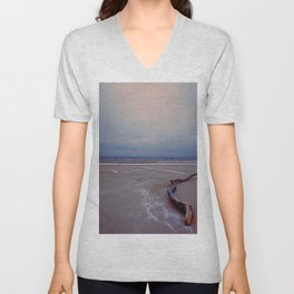 Logging by the sea Unisex V-Neck