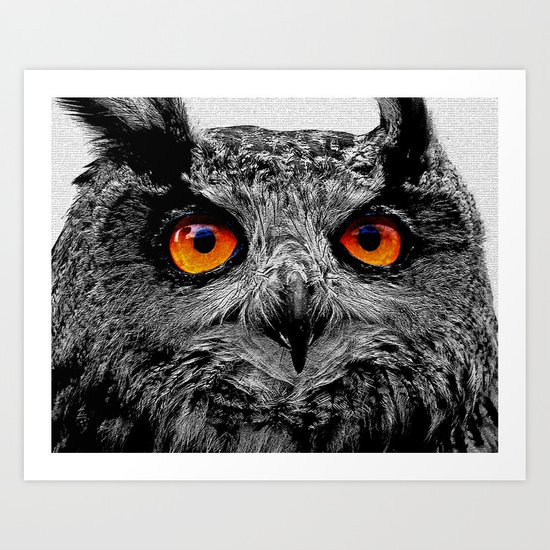 YOU'RE THE ORANGE OF MY EYES Art Print