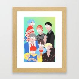 BTS DNA Group Portrait Framed Art Print