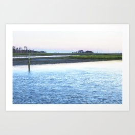 Early Evening at Chincoteague Bay Art Print