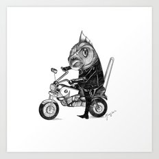 Fishy bike Art Print