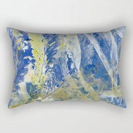 Brushed Blue Rectangular Pillow