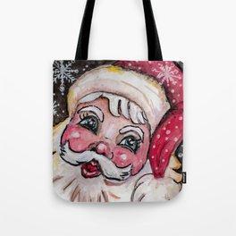 Babyfaced Santa Tote Bag