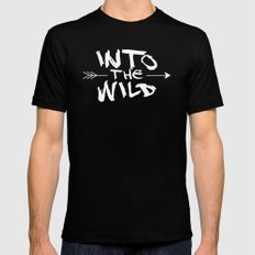 Into the Wild Mens Fitted Tee SMALL Black