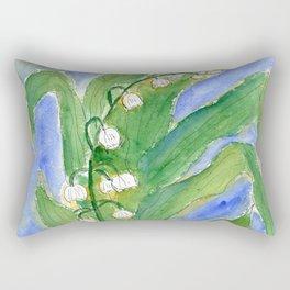 Lilly Of The Valley (Convallaria majalis) Rectangular Pillow