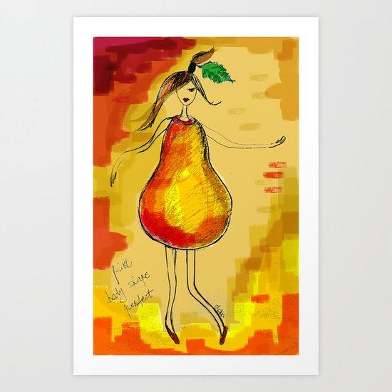pear body shape perfect Art Print