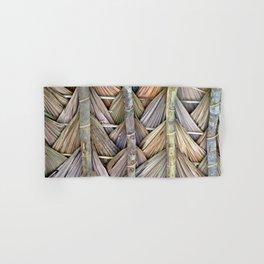 Bamboo wall wickerwork basketwork pattern Hand & Bath Towel