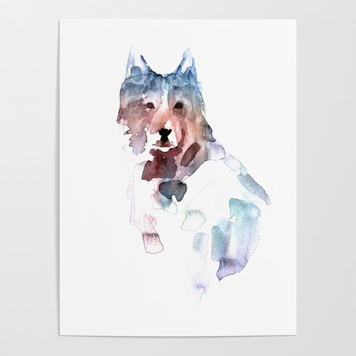 Wolf Abstract Animal Portrait Poster By Alexandraiv