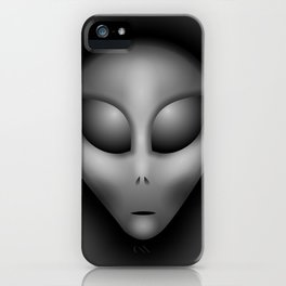 Grey Alien Portrait iPhone Case