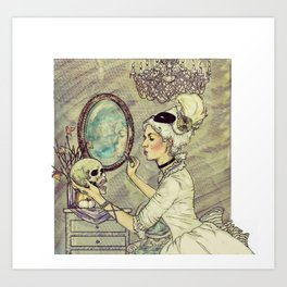 Marie Antoinette Halloween Art Print