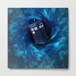 "TARDIS ""Dr. WHO"" Metal Print"