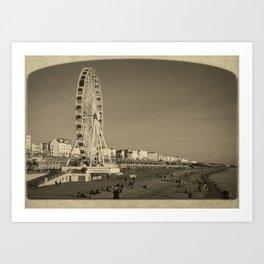 Ferris Wheel at Brighton, UK Art Print