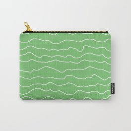 Green with White Squiggly Lines Carry-All Pouch