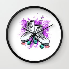 Womens Roller Skater Gift Print Roll Out Derby Product Wall Clock