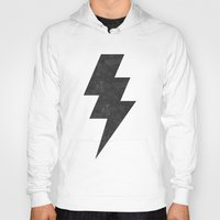 lightning Hoodies featuring lightning strike by Vin Zzep