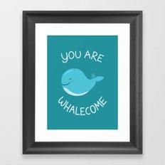 Whale, thank you! Framed Art Print