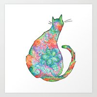 Springtime Cat Art Print