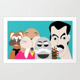 Binky and Friends Art Print