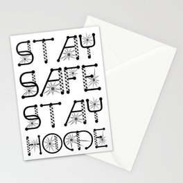Stay Safe, Stay Home Virus Awareness Design Stationery Cards
