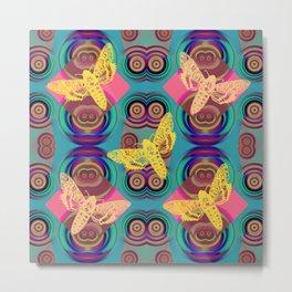 Butterfies Pattern QQ Metal Print