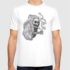 death before decaf 2X-LARGE White Mens Fitted Tee