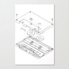Exploded Cassette Tape  Canvas Print