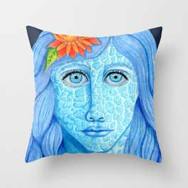 Skylar Larimar Throw Pillow