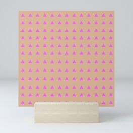Neon Triangles - Pink Mini Art Print