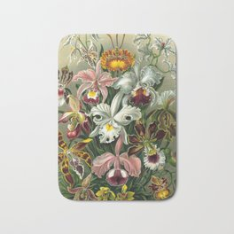 Vintage Orchid Floral Bath Mat