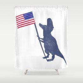 Patriotic T-Rex Shower Curtain
