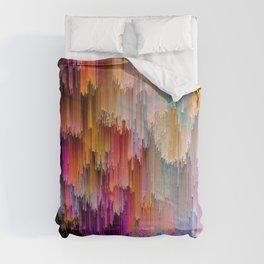 Light meets Dark Colorful Glitch Art Comforters
