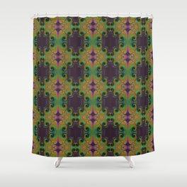 Spirals Royal Shower Curtain