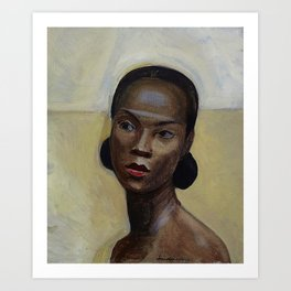 African American Masterpiece 'Portrait of a Black Woman' by Sergey Sudeikin  Art Print