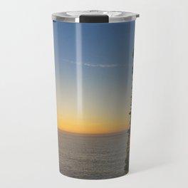 SUNSET AT TINTAGEL CASTLE CORNWALL Travel Mug