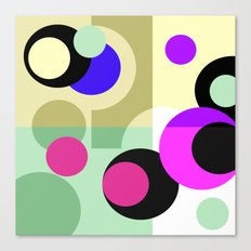 Colorful geometric pattern with polka dots . Canvas Print
