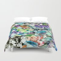 school Duvet Covers featuring School by Nancy Smith