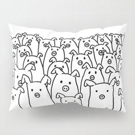 Fun Line Piggy Pattern Pillow Sham